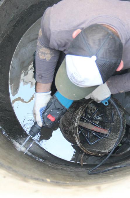 Как мы выполняем ремонт колодцев в Менделеево